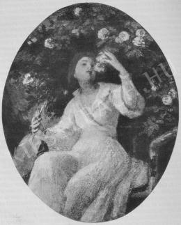 Székely Bertalan - Rózsalugasban