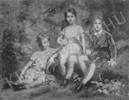 Székely Bertalan - Tanulmány a Pfeifer-család gyermekeinek arcképcsoportjához