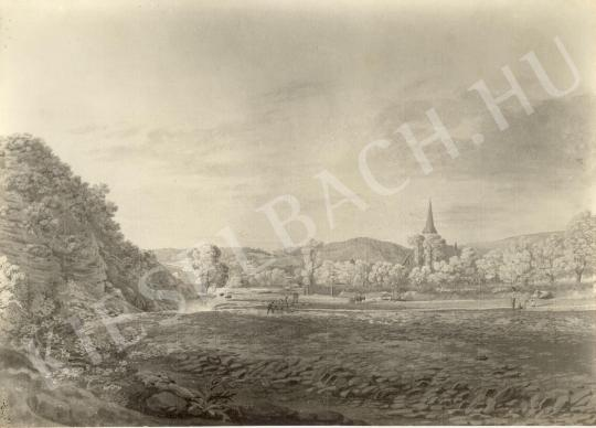 Unknown painter - Landscape with Church painting