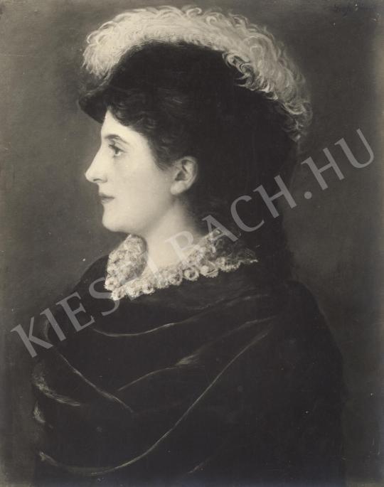 Ismeretlen festő - Női arckép festménye