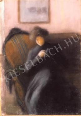 Rippl-Rónai József - Nő fotelban