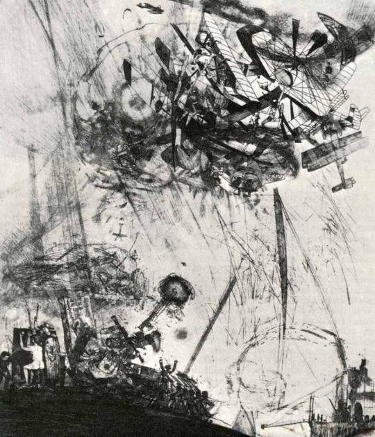 Kondor Béla - Égi háború festménye