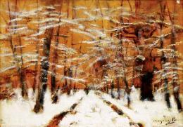 Mednyánszky László - Téli erdő