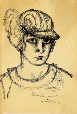 Lehel Mária - Kalapos hölgy, 1912