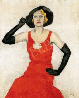 Szivessyné Aczél Boriska - Kalapos hölgy, 1920-as évek