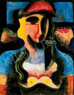 Scheiber Hugó - Nő piros sapkában