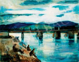Bernáth, Aurél - Bridge by Pöstyén, 1926
