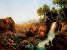 Ifj. Markó Károly - Itáliai táj vízeséssel, 1860