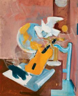Medveczky Jenő - Hegedűs csendélet (Zene), 1945