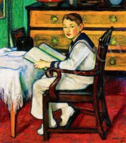 Lohwag Ernesztin - Matrózruhás fiú, 1913