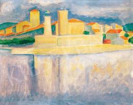 Czigány Dezső - Kisváros a Cote d'Azure-ön, (Dél-francia móló), 1930 körül