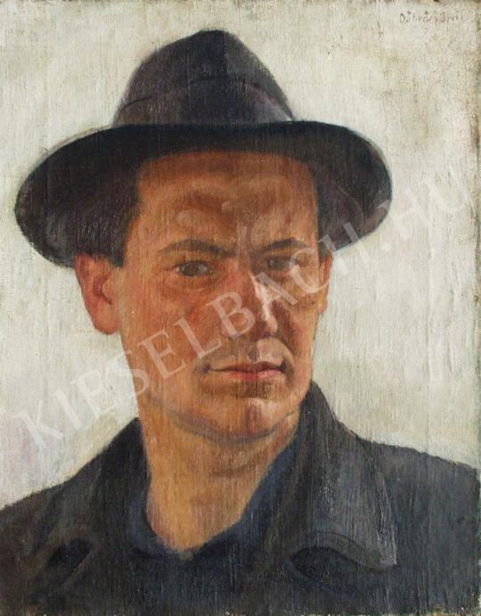 Döbröczöni Kálmán - Önarckép, 1940 festménye