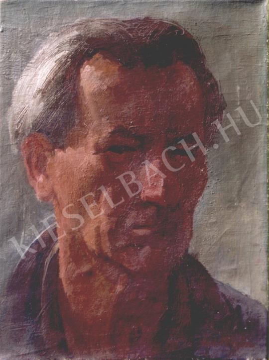 Döbröczöni Kálmán - Önarckép, 1960 festménye