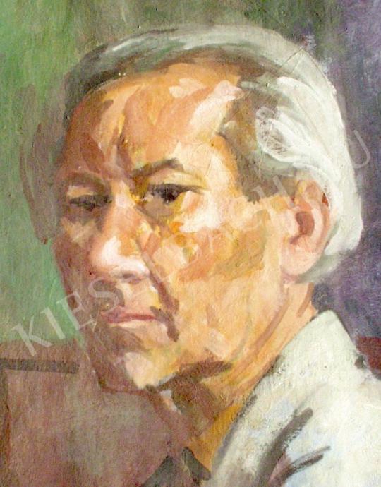 Döbröczöni Kálmán - Önarckép, 1965 festménye