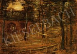 Gulácsy Lajos - Park magányos házikóval, 1908-1909