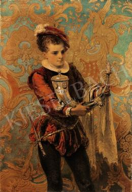 Zichy, Mihály - Cadet with Drinking Horn, 1875