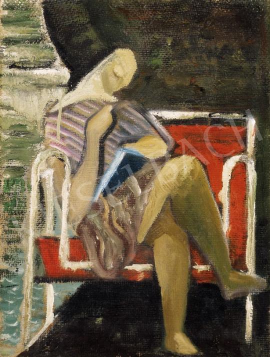 Klie Zoltán - Olvasó nő Bauhaus fotelben | 23. Aukció aukció / 196 tétel