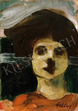 Gulácsy Lajos - Női fej, 1911-12