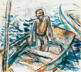 Egry, József - Fisherman by the Lake Balaton, 1930