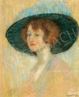 Kunffy, Lajos - Woman in Hat