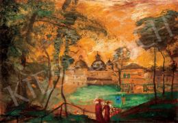 Gulácsy Lajos - Itáliai táj aranyló fényekkel (1910 körül)