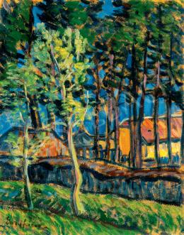 Egry, József - Sunlit Houses Among Trees