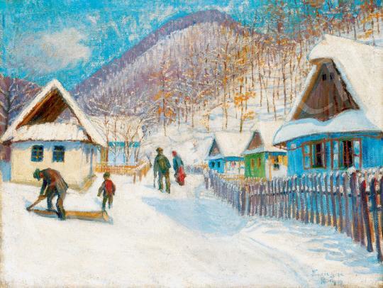Kádár Géza - Nagybánya télen, 1912 | 30. jubileumi aukció aukció / 38 tétel