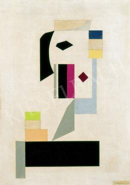 Korniss Dezső - Női fej, 1955
