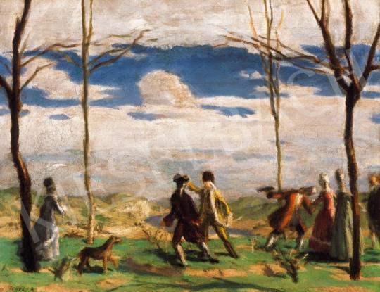 Fényes Adolf - Rokokó jelenet a szabadban   20. Aukció aukció / 9 tétel