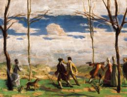 Fényes, Adolf - Roccocco Scene in the Open-air