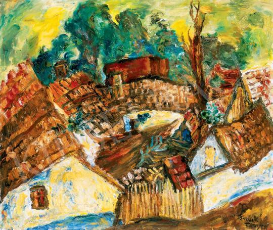 Frank Frigyes - Házikók (Mártélyi tetők) | 30. jubileumi aukció aukció / 105 tétel