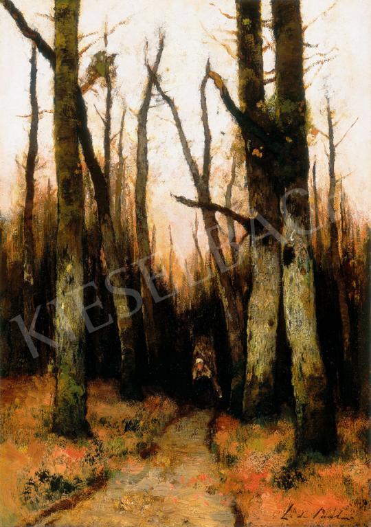 Paál László - Naplemente (Rőzseszedő) | 30. jubileumi aukció aukció / 127 tétel