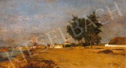 Blau-Lang, Tina - By the River Tisza at Szolnok, 1870s