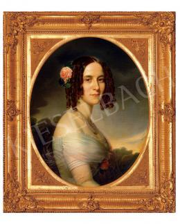 Borsos József - Hölgy rózsával