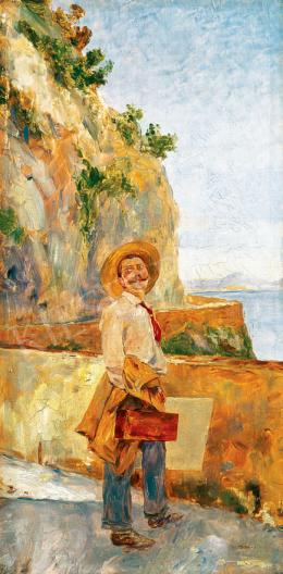 Magyar Mannheimer, Gusztáv - Painter on the Beach