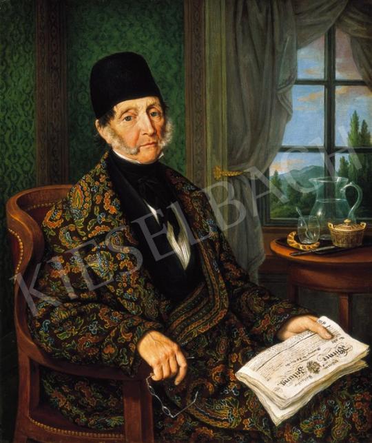 Höfel, Johann Nepomuk - Reggeli után, 1844 | 20. Aukció aukció / 17 tétel