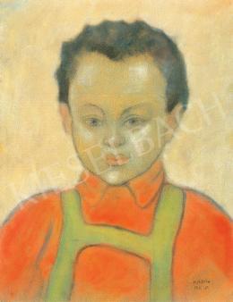 Kádár Béla - A művész fia (György) kantáros nadrágban