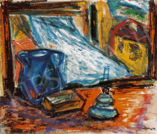 Ámos, Imre - Still Life with a Lamp and a Fluttering Curtain in Szentendre | 20th Auction auction / 19 Item