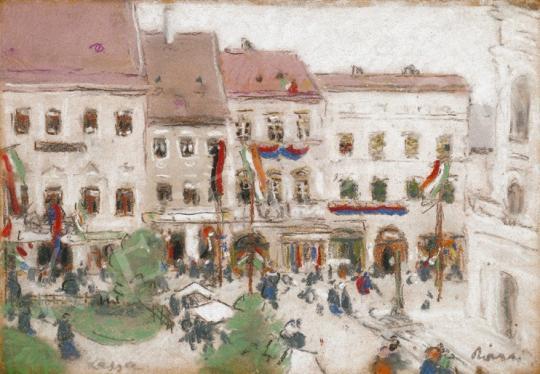 Rippl-Rónai József - A Rákóczi - ünnepély Kassán, 1903 július 26. A Rákóczi szabadságharc 300. évfordulójára | 20. Aukció aukció / 22 tétel