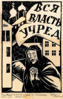 Bortnyik Sándor - Illusztráció A. Blok: A tizenkettő c. költeményéhez 1923 Berlin 10 fametszet Bortnyik S (Bényi néven