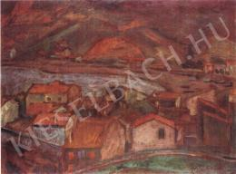 Rippl-Rónai József - Falu a Pireneusokban (1899)