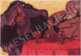 Rippl-Rónai József - Apám Piacsek bácsival (1907)