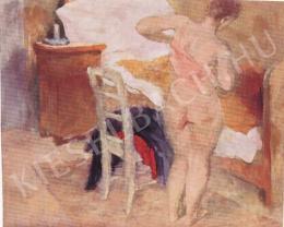 Szőnyi, István - Undressing woman