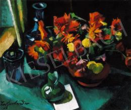 Ziffer, Sándor - Still-life of Flowers in the Window