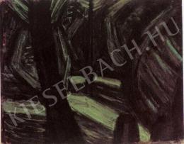 Barcsay Jenő - Fekete-zöld kert (1934)