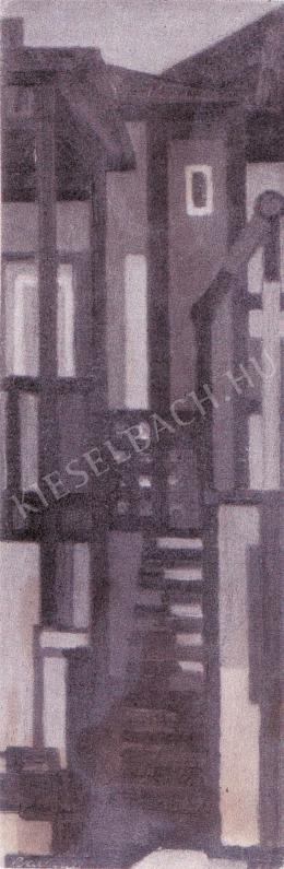 Barcsay Jenő - Szentendrei udvar (1961)