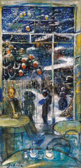 Gulácsy Lajos - Nakonxipánban hull a hó (Egynapos hó) (1910 körül)