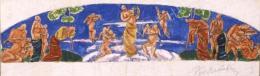 Pór Bertalan - Vázlat a Nép-opera falképéhez