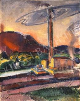 Márffy Ödön - Tájkép gyárral
