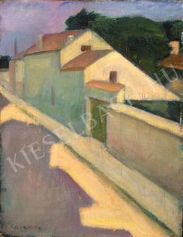 Czigány Dezső - Tájkép, utcarészlet